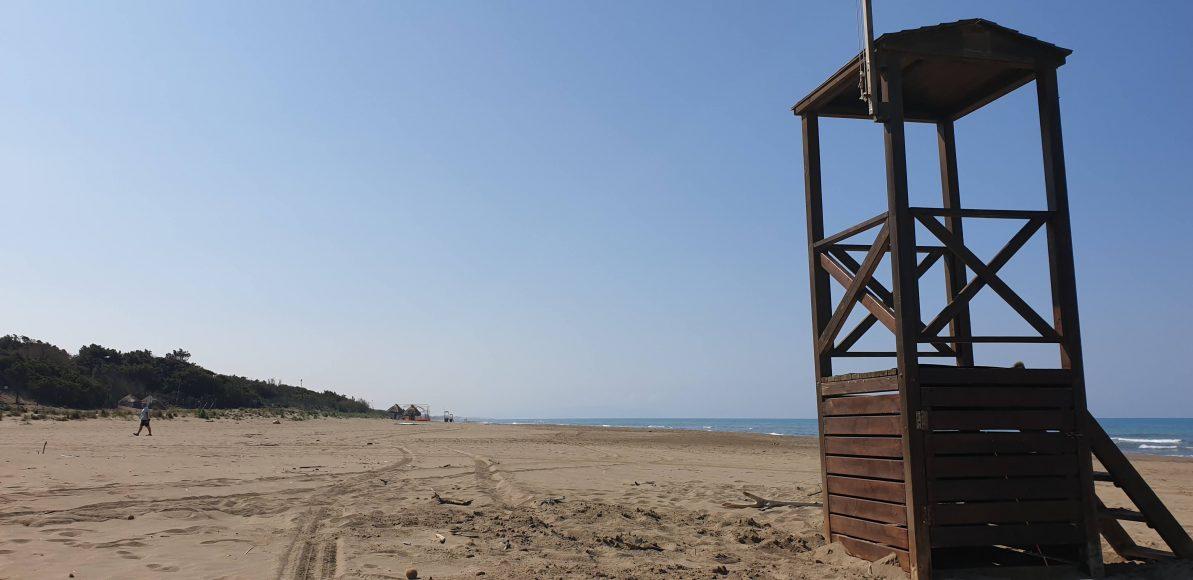 Unser erster Stop - direkt an diesem Strand